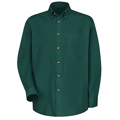 Red Kap Men's Meridian Performance Twill Shirt RG x S, Emerald