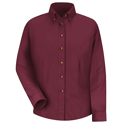 Red Kap Women's Meridian Performance Twill Shirt RG x S, Burgundy