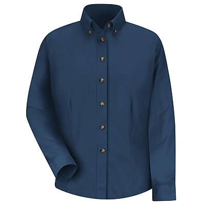 Red Kap Women's Meridian Performance Twill Shirt RG x S, Navy