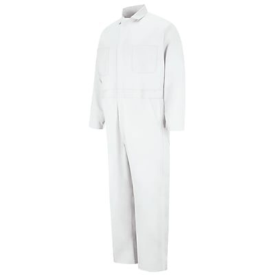 Red Kap Button-front Cotton Coverall RG x 58, White
