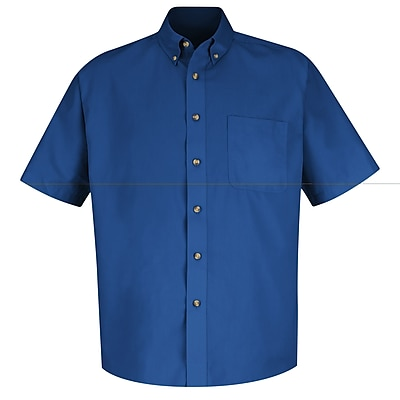 Red Kap Men's Meridian Performance Twill Shirt SSL x L, Royal blue