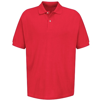 Red Kap Men's Basic Pique Polo SS x 3XL, Brick red