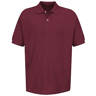 Red Kap Men's Basic Pique Polo SS x 4XL, Burgundy