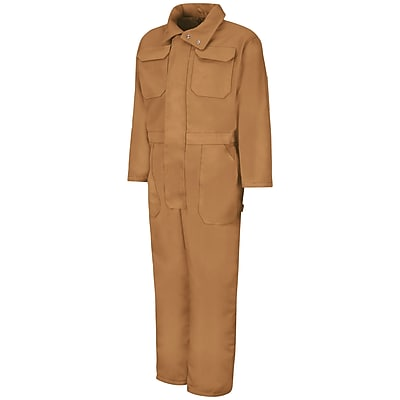 Red Kap Insulated Blended Duck Coverall RG x 4XL, Brown duck