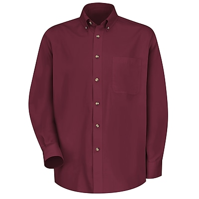 Red Kap Men's Meridian Performance Twill Shirt LN x 3XL, Burgundy