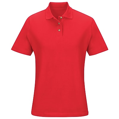 Red Kap Women's Basic Pique Polo SS x L, Brick red