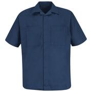 Red Kap  Men's Convertible Collar Shirt Jacket SS x 3XL, Navy
