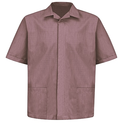 Red Kap Men's Pincord Shirt Jacket SS x S, Burgundy pincord