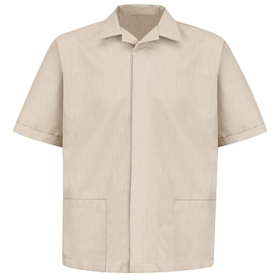 Red Kap Men's Pincord Shirt Jacket SS x S, Tan pincord