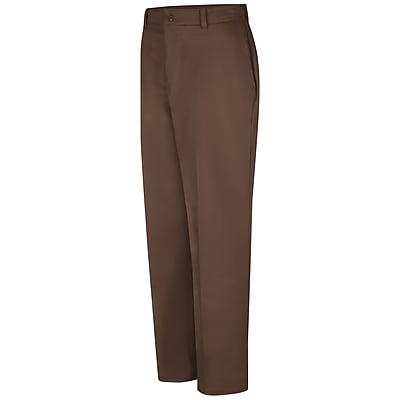 Red Kap Men's Wrinkle-Resistant Cotton Work Pant 33 x 37U, Brown