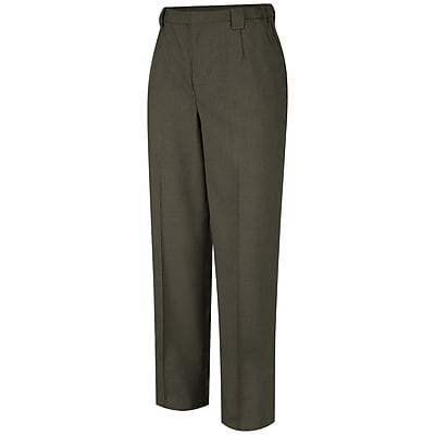 Horace Small Women's Poly/Wool Tropical Dress Trouser 04R x 36U, Earth green