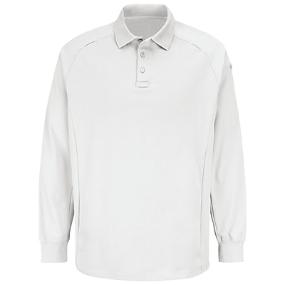 Horace Small Unisex Special Ops Long Sleeve Polo RG x M, White