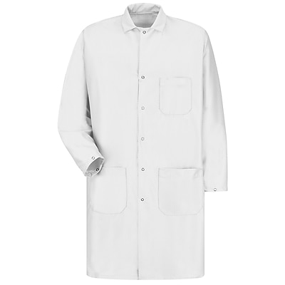 Red Kap Unisex ESD/Anti-Stat Tech Coat RG x 3XL, White