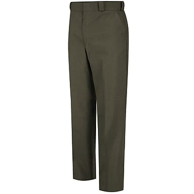 Horace Small Men's Poly/Wool Tropical Dress Trouser 46R x 37U, Earth green
