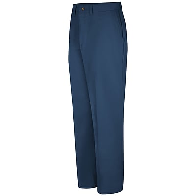 Red Kap Men's Plain Front Cotton Pant 34 x 37U, Navy