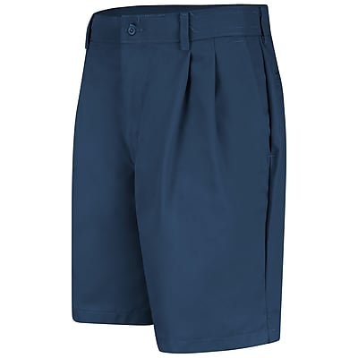 Red Kap Men's Pleated Front Short 42 x 09, Navy