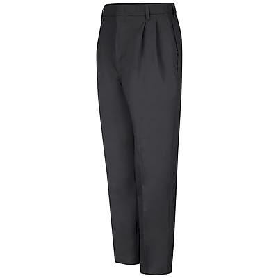 Red Kap Men's Pleated Twill Slacks 34 x 34, Black