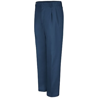 Red Kap Men's Pleated Work Pant 38 x 32, Navy