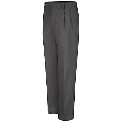 Red Kap Men's Pleated Work Pant 31 x 37U, Charcoal