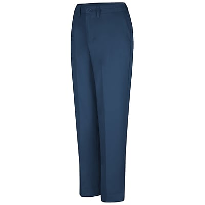 Red Kap Women's Elastic Insert Work Pant 16 x 34U, Navy
