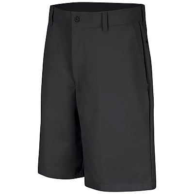 Red Kap Men's Plain Front Short 38 x 10, Black