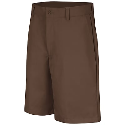 Red Kap Men's Plain Front Short 32 x 10, Brown