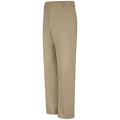 Red Kap Men's Cell Phone Pocket Pant 44 x 37U, Khaki