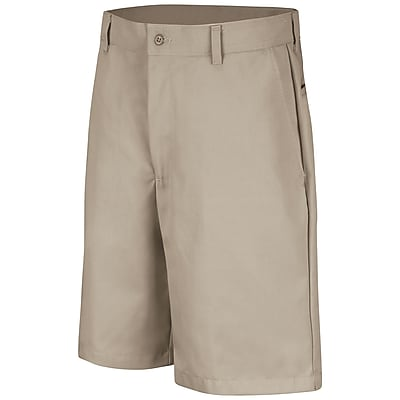Red Kap Men's Plain Front Short 30 x 10, Tan