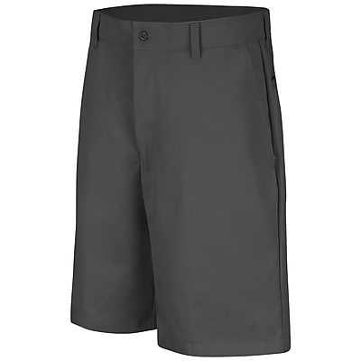 Red Kap Men's Plain Front Short 36 x 10, Charcoal