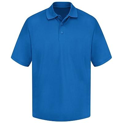Red Kap Men's 100% Polyester Mesh Polo SS x S, Royal blue