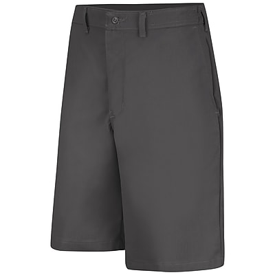 Red Kap Men's Plain Front Side Elastic Short 34 x 10, Charcoal