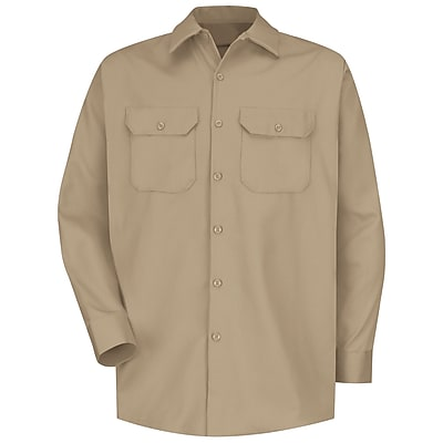 Red Kap Men's Deluxe Heavyweight Cotton Shirt RG x 4XL, Khaki