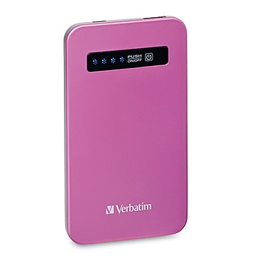 Verbatim Ultra-Slim Battery Power Pack, 4200mAh, Pink