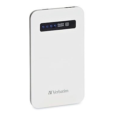 Verbatim Ultra-Slim Battery Power Pack, 4200mAh, White
