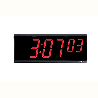 Pyramid™ DIG-6B 6-Digit LED Digital Wall Clock