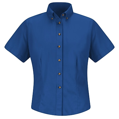 Red Kap Women's Meridian Performance Twill Shirt SS x XXL, Royal blue