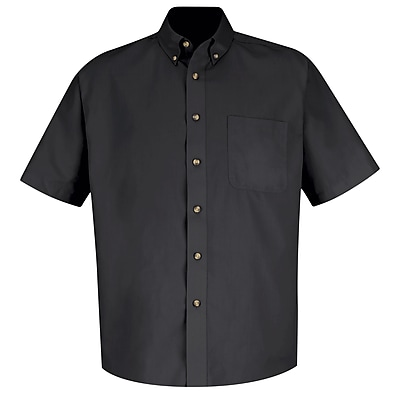 Red Kap Men's Meridian Performance Twill Shirt SSL x L, Black