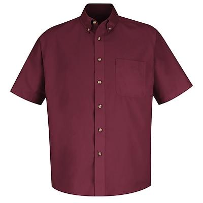 Red Kap Men's Meridian Performance Twill Shirt SS x 4XL, Burgundy