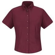 Red Kap Women's Meridian Performance Twill Shirt SS x XL, Burgundy