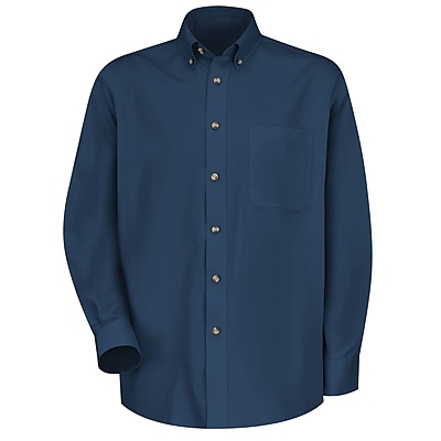 Red Kap Men's Meridian Performance Twill Shirt LN x XXL, Navy
