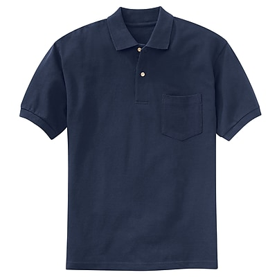 Red Kap Men's Basic Pique Polo SS x XXL, Navy