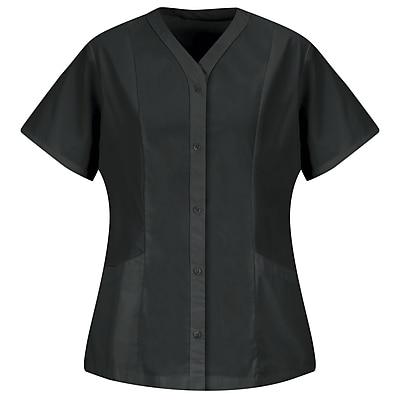 Red Kap Women's Easy Wear Tunic SS x XXL, Black