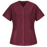 Red Kap Women's Easy Wear Tunic SS x S, Burgundy