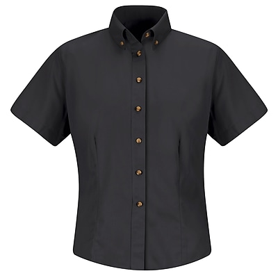Red Kap Women's Meridian Performance Twill Shirt SS x XS, Black