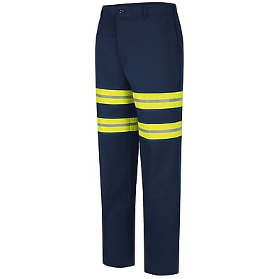 Red Kap Men's Enhanced Visibility Industrial Pant Navy, 36-inch