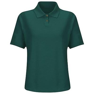 Red Kap Women's Cotton / Polyester Blend Pique Knit Shirt SS x M, Emerald