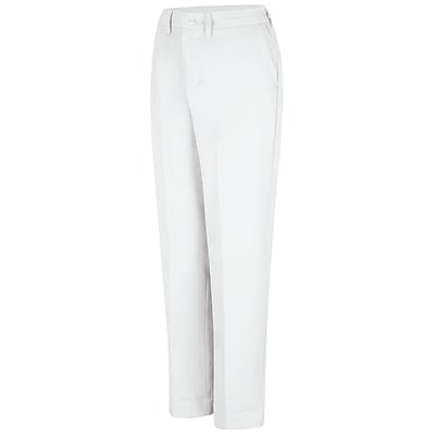 Red Kap Women's Elastic Insert Work Pant 16 x 34U, White
