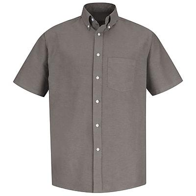 Red Kap Men's Executive Oxford Dress Shirt SSL x 165, Grey