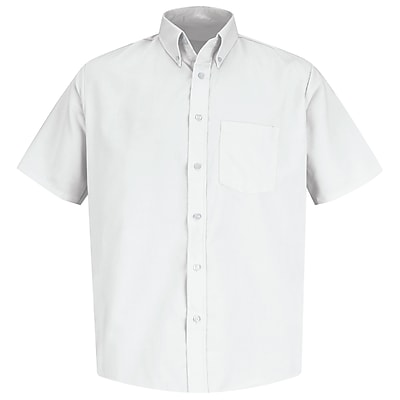 Red Kap Men's Easy Care Dress Shirt SSL x 3XL, White