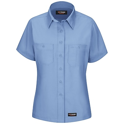 Wrangler Workwear Women's Work Shirt SS x XL, Light blue